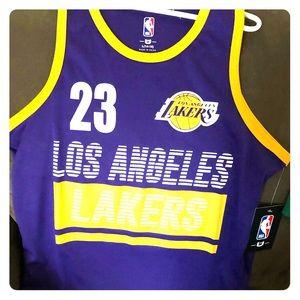 Kids NBA Apparel LeBron James LA Lakers jersey